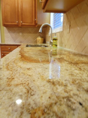 Granite & Travertine Backsplash