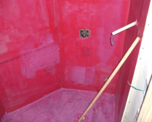Shower with Rubber Membrane