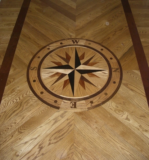 Hardwood Compass Inlay