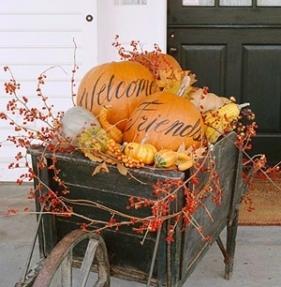 font door pumpkins
